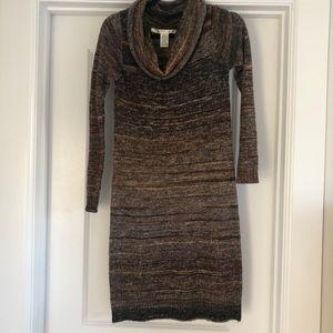 Cozy cowl neck sweater dress